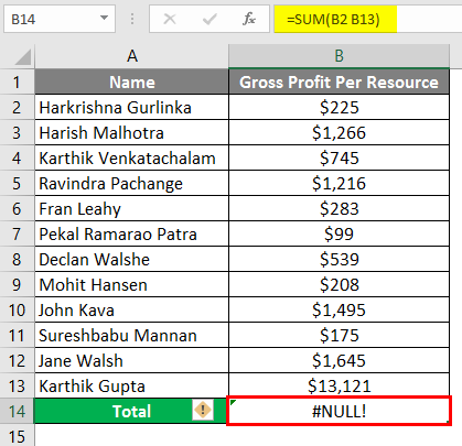 NULL in Excel 2-2