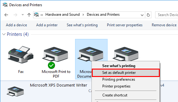 Device and Printers