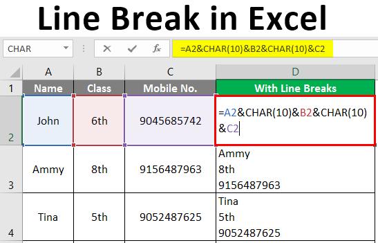 Line Break in Excel