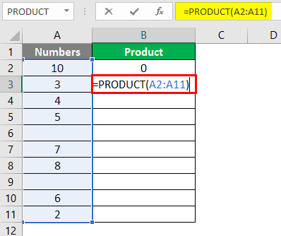 PRODUCT Function in Excel 2-4