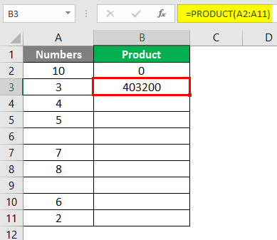 PRODUCT Function in Excel 2-5