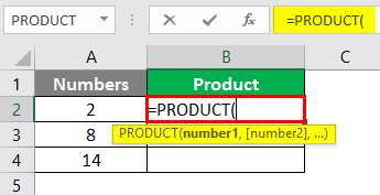 product function in excel 1-2