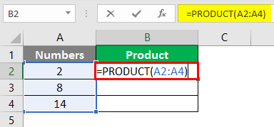 product function in excel 1-3