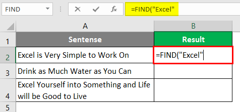 search for text in excel 1-3