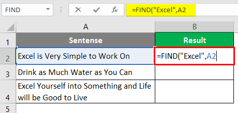 search for text in excel 1-4