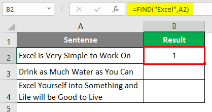 search for text in excel 1-5