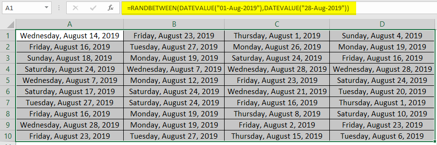 DATEVALUE to Generate Random Date 4-5