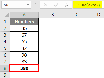 sum of multiple rows in excel 1-3