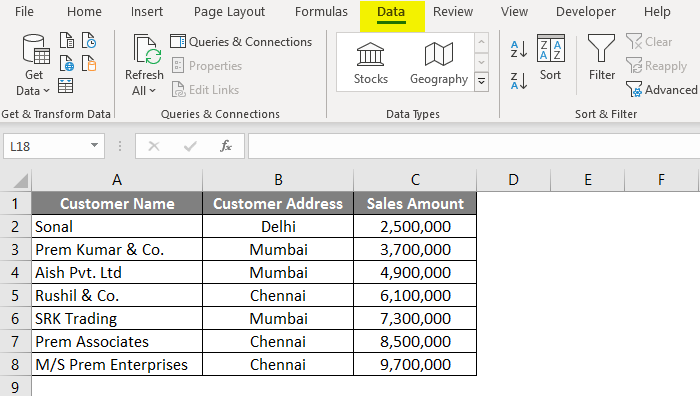 wildcard in excel example 1-2