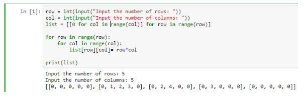 2D Arrays In Python