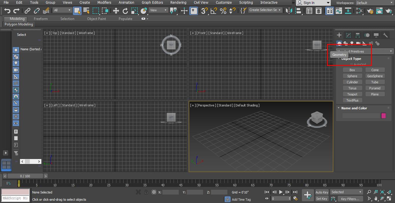 3D Max Models - Geometry option