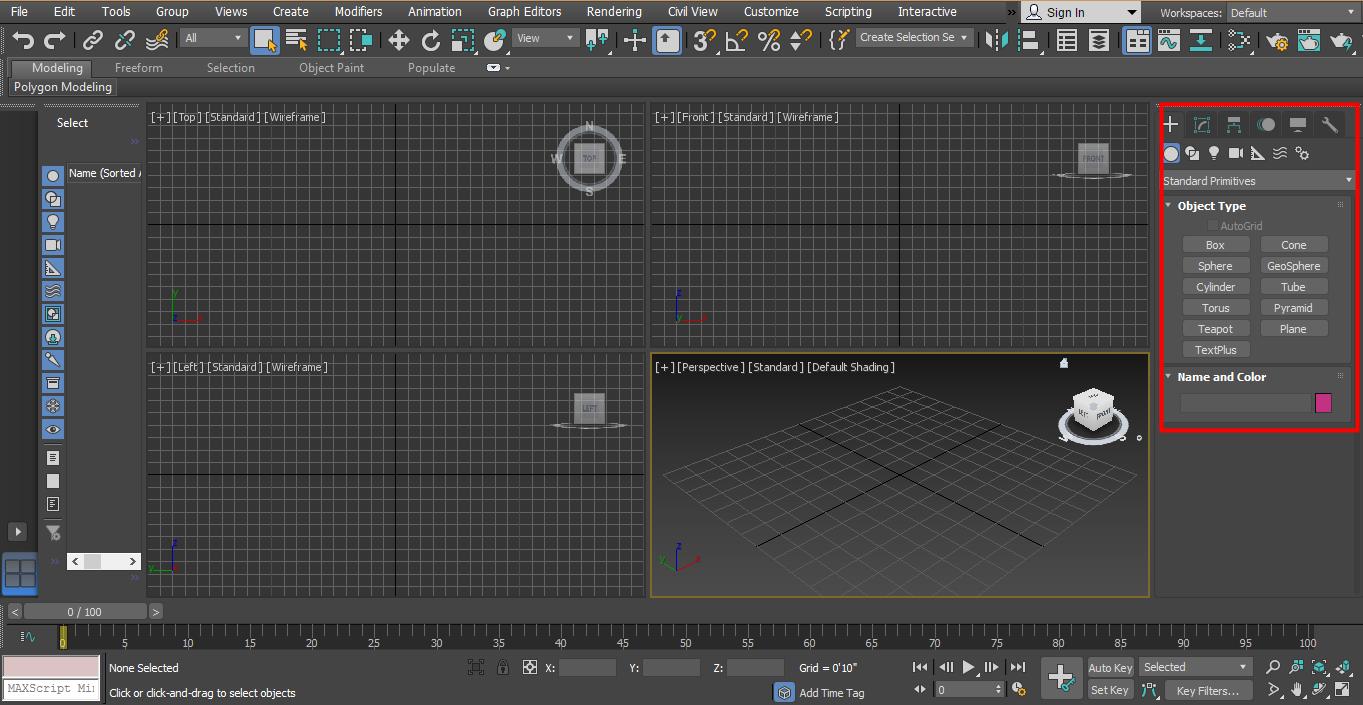 3D Max Models - common panel