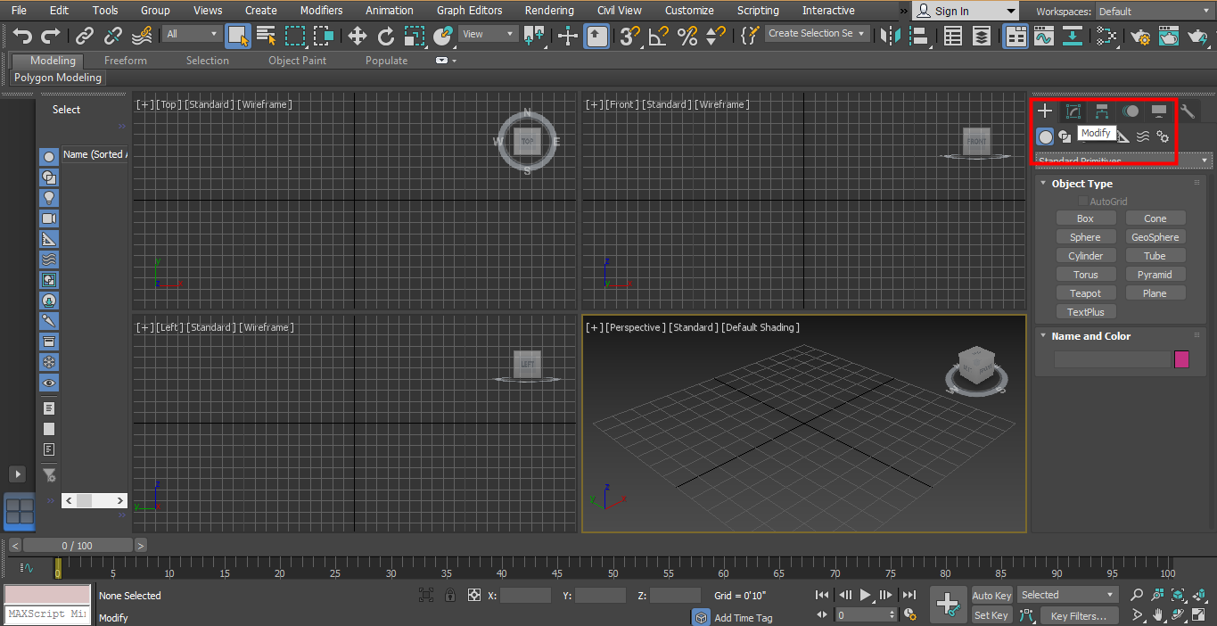 3D Max Models - options in the common panel 2