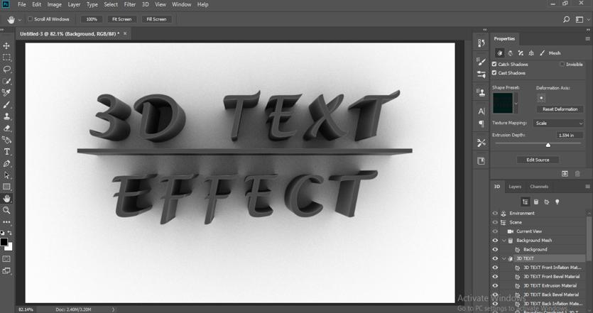 3D text effect final