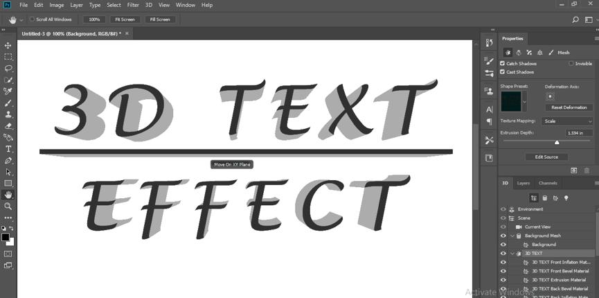 Final 3d text effect