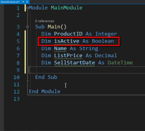 Boolean - VB.Net Data Types