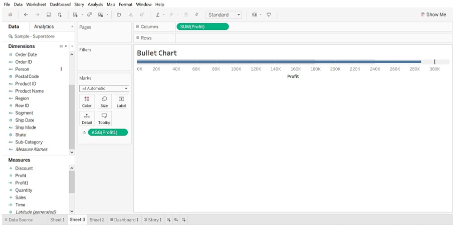Tableau Chart Types Bullet Chart 4