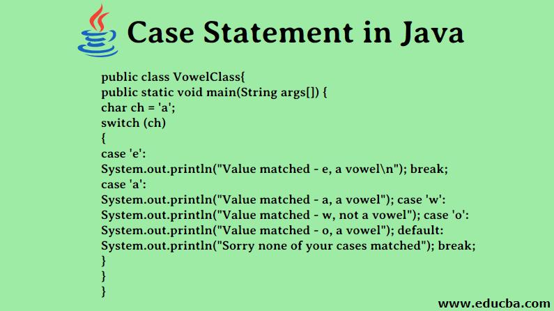 Case Statement in Java