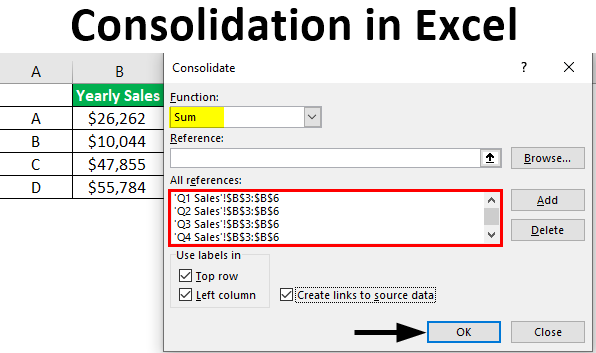 Consolidation in Excel