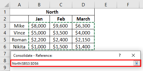 Consolidation in excel 2-3