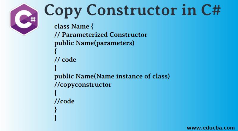 Copy Constructor in C#