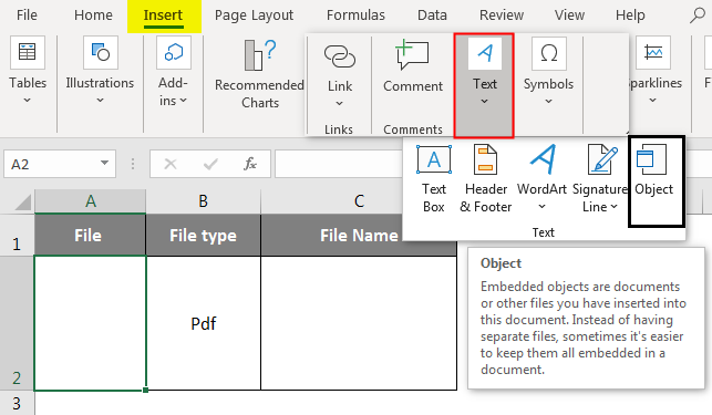 Embedded in excel 1-3