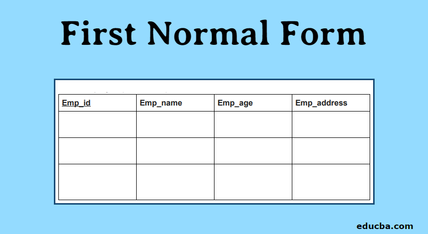 First​ Normal Form