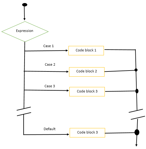 Flow Diagram of Switch Statement in C++