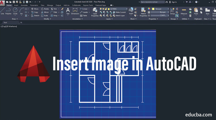 Insert Image in AutoCAD