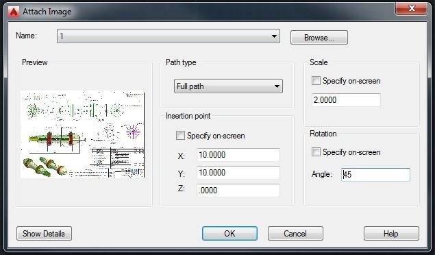 Insert image in AutoCAD 6