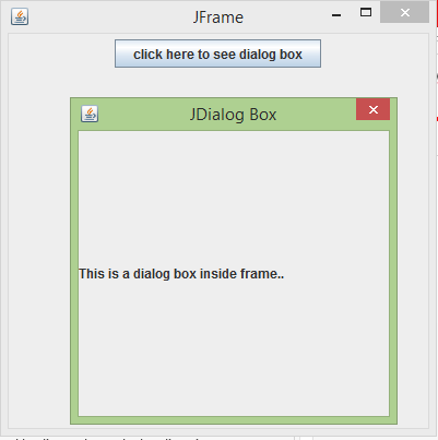 JDialog in Java Example 1-2
