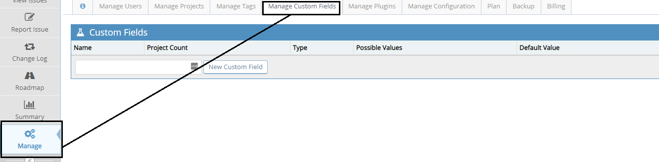 Manage Custom Fields