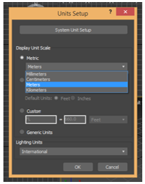 Texture in 3Ds Max - Metric for setting