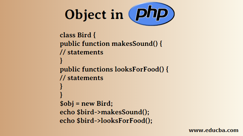 Object in php