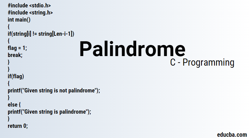 Palindrome in C Programming