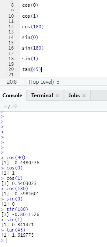 R code output 15