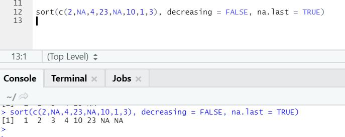 R code output 2