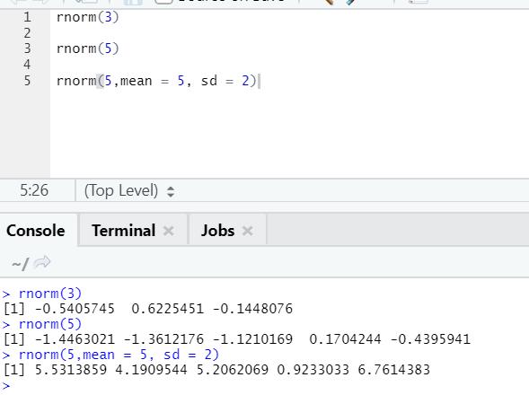 R code output 5