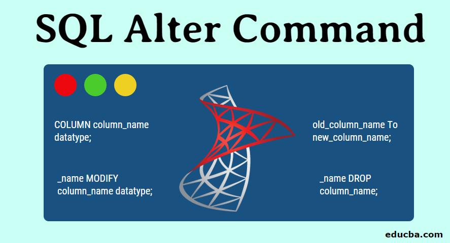 SQL Alter Command