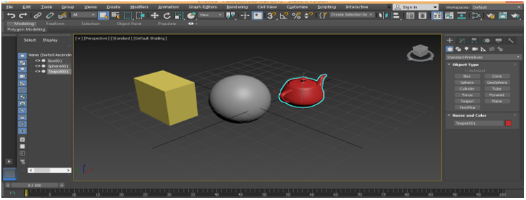 Objects in Viewport