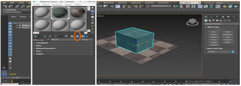 Show Shaded Material in Viewport tab