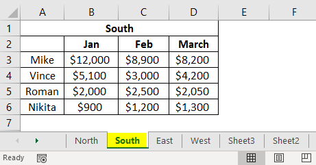 Consolidation in Excel 1-2
