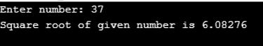 Square Root in C++-1.1