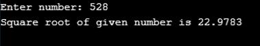 Square Root in C++-1.2..
