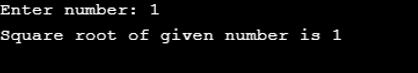 Square Root in C++-1.6