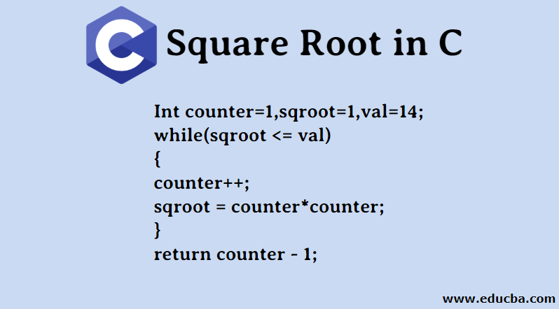 Square Root in C