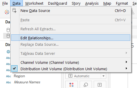 Data Blending in Tableau Step 2.1