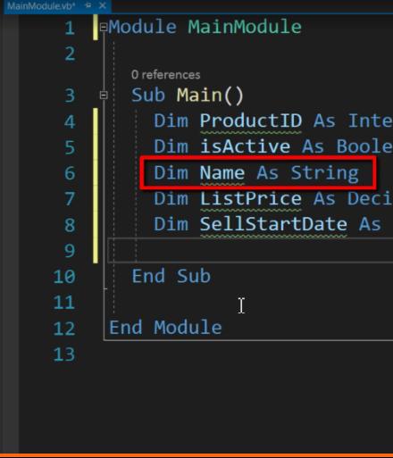 String- VB.Net data types