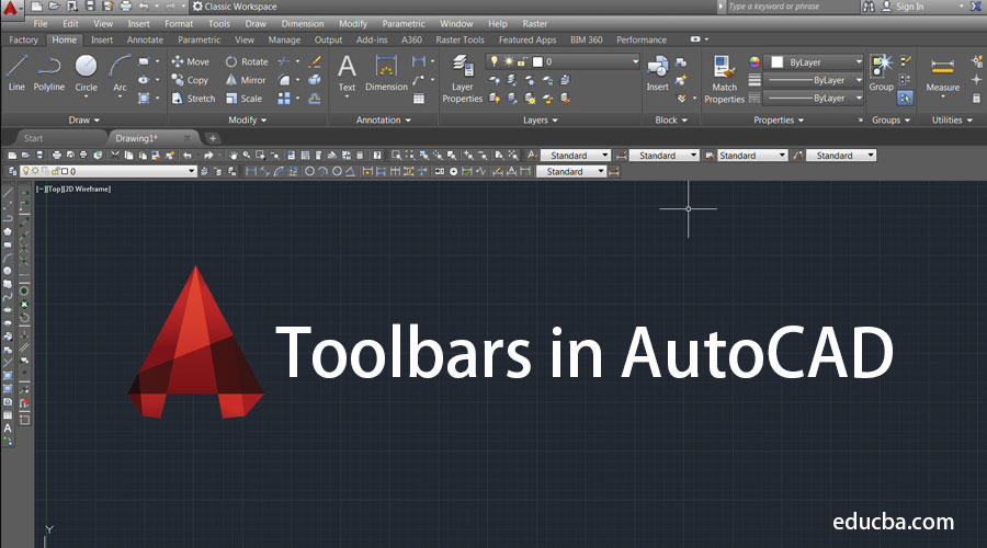 Toolbars in AutoCAD