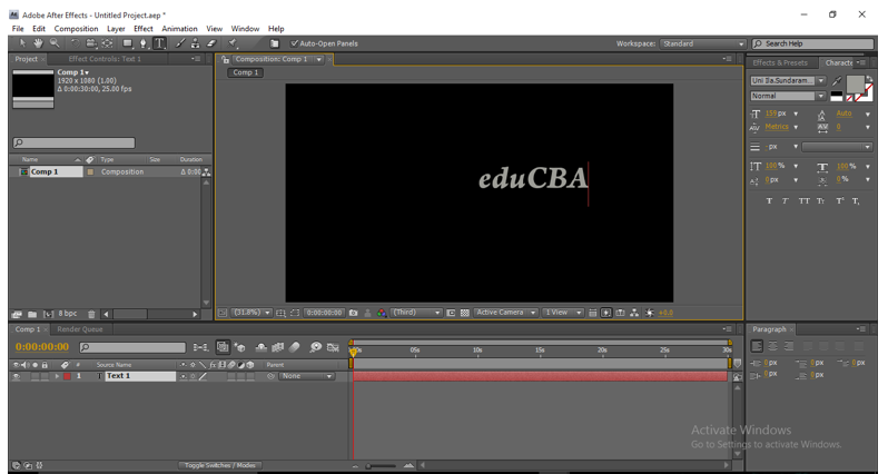 Text Animation in After Effects 3